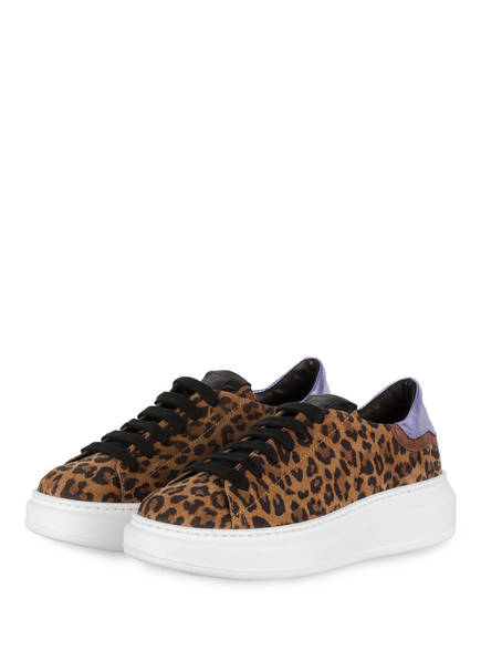 GIO+ Plateau-Sneaker, Farbe: CAMEL/ SCHWARZ/ LILA (Bild 1)