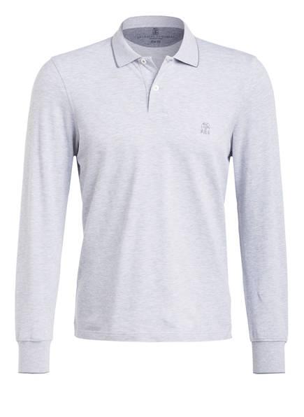 BRUNELLO CUCINELLI Piqué-Poloshirt , Farbe: HELLGRAU (Bild 1)