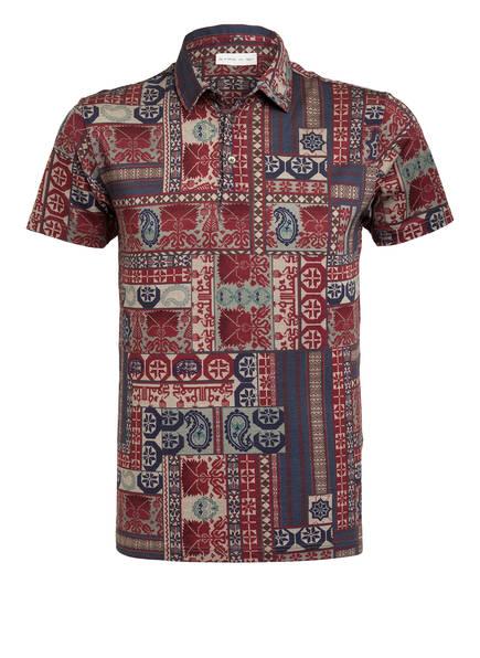 ETRO Piqué-Poloshirt Regular Fit, Farbe: DUNKELROT/ DUNKELBLAU (Bild 1)