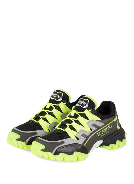 VALENTINO GARAVANI Sneaker CLIMBERS, Farbe: SCHWARZ/ OLIV/ NEONGRÜN (Bild 1)