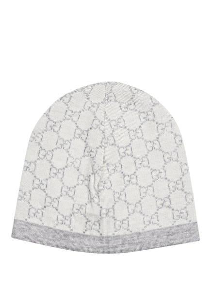 GUCCI Mütze, Farbe: WEISS/ HELLGRAU (Bild 1)