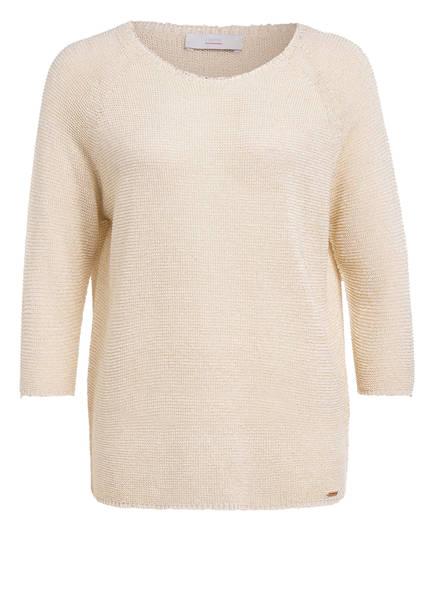 CINQUE Pullover CIELLA mit 3/4-Arm und Glitzergarn, Farbe: ECRU (Bild 1)