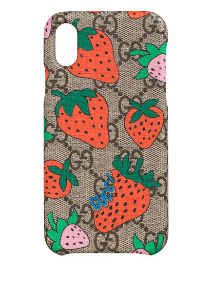 GUCCI Smartphone-Hülle, Farbe: BEIGE EBONY/ ROSSO (Bild 1)