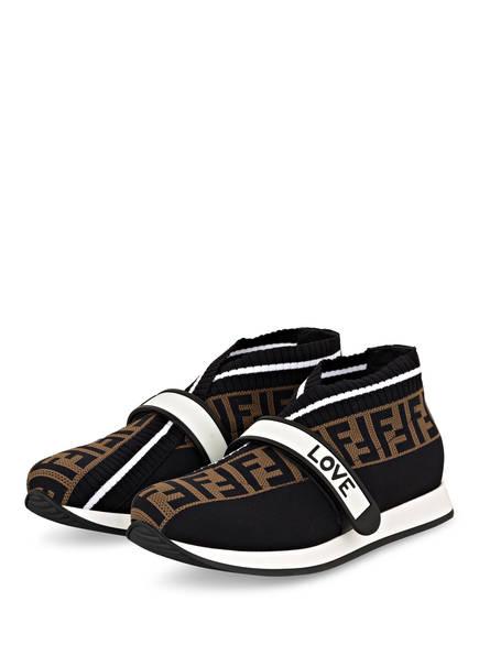 FENDI Sneaker , Farbe: SCHWARZ/ BEIGE/ WEISS (Bild 1)