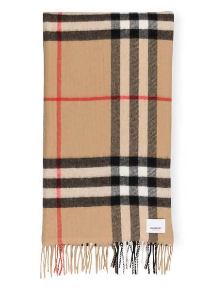 BURBERRY Cashmere-Schal mit Seide , Farbe: ARCHIVE BEIGE (Bild 1)