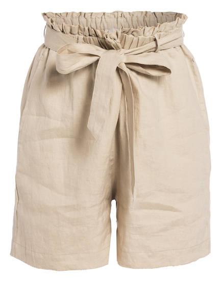 Mrs & HUGS Paperbag-Shorts aus Leinen, Farbe: BEIGE (Bild 1)