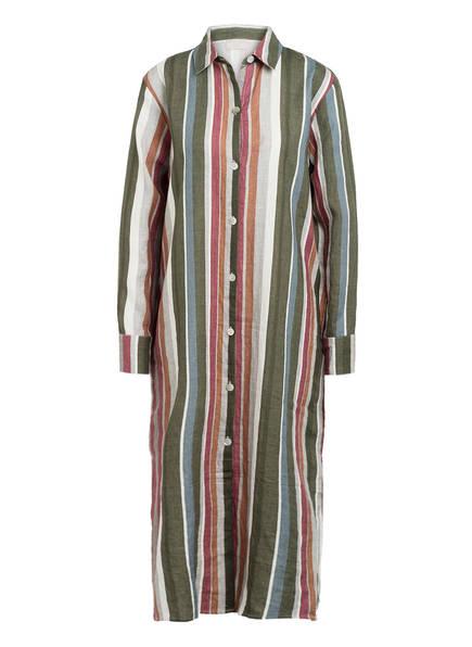 Mrs & HUGS Hemdblusenkleid aus Leinen, Farbe: GRÜN/ BLAU/ GRAU (Bild 1)