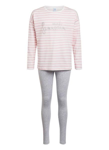 Sanetta Schlafanzug, Farbe: ROSÉ/ WEISS/ GRAU (Bild 1)