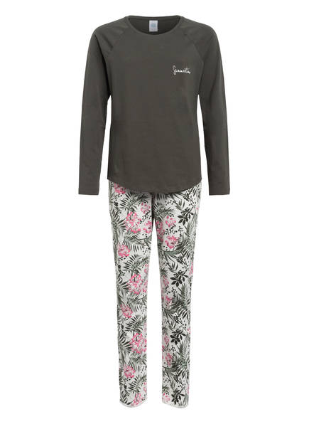 Sanetta Schlafanzug, Farbe: KHAKI/ WEISS/ ROSA (Bild 1)
