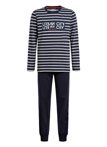 Sanetta Schlafanzug, Farbe: BLAU/ WEISS (Bild 1)