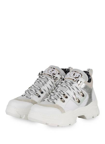 MÉLINÉ Plateau-Sneaker, Farbe: WEISS/ HELLGRAU (Bild 1)