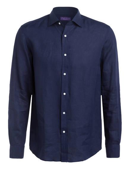 RALPH LAUREN PURPLE LABEL Leinenhemd Slim Fit, Farbe: DUNKELBLAU (Bild 1)