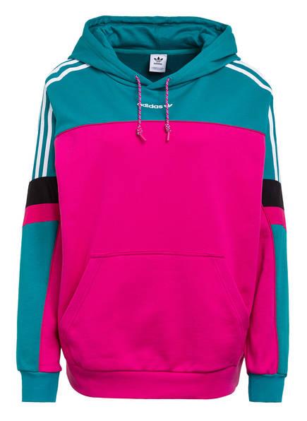 adidas Originals Hoodie BF, Farbe: PINK/ PETROL (Bild 1)