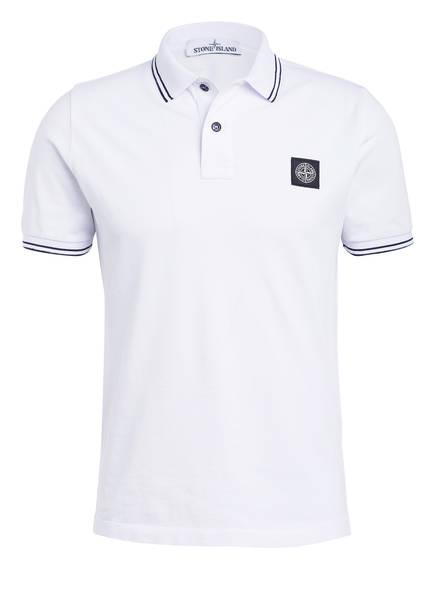 STONE ISLAND Jersey-Poloshirt Slim Fit, Farbe: WEISS (Bild 1)