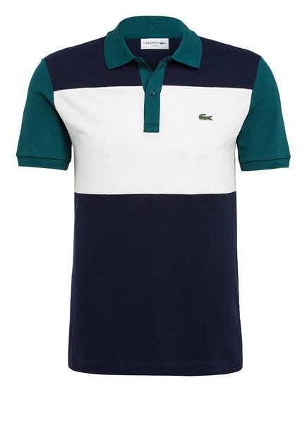 LACOSTE Piqué-Poloshirt Slim Fit, Farbe: DUNKELBLAU/ PETROL/ WEISS (Bild 1)