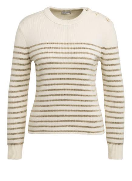 SAINT LAURENT Pullover, Farbe: ECRU/ GOLD (Bild 1)