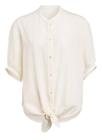SAINT LAURENT Bluse mit Glitzergarn , Farbe: ECRU/ GOLD (Bild 1)