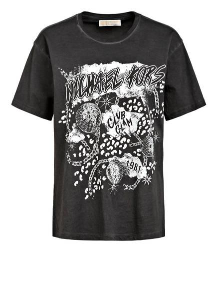 MICHAEL KORS T-Shirt mit Schmucksteinbesatz, Farbe: DUNKELGRAU (Bild 1)
