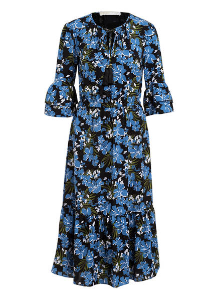 MICHAEL KORS Kleid mit 3/4-Arm , Farbe: SCHWARZ/ BLAU/ GRÜN (Bild 1)