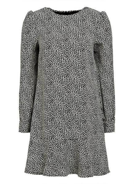 MICHAEL KORS Kleid mit Volantbesatz, Farbe: SCHWARZ/ WEISS (Bild 1)