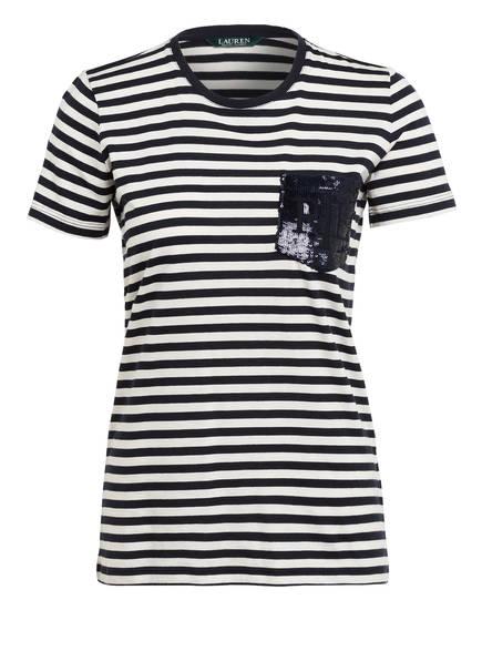 LAUREN RALPH LAUREN T-Shirt , Farbe: CREME/ DUNKELBLAU (Bild 1)