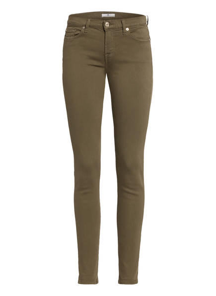 7 for all mankind Skinny Jeans THE SKINNY, Farbe: COLORED SLIM ILLUSION ARMY (Bild 1)