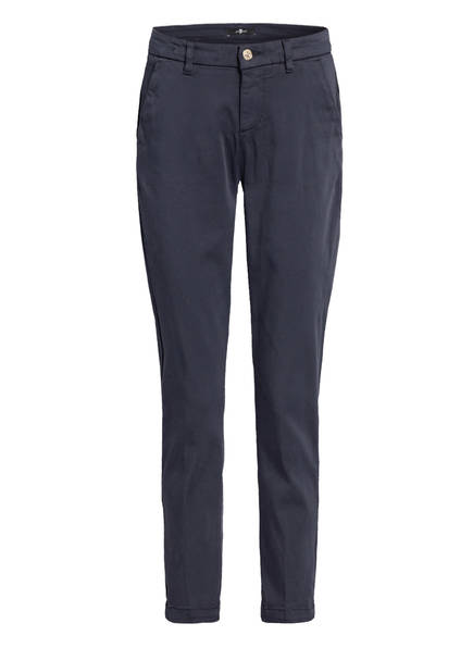 7 for all mankind 7/8-Chino, Farbe: DUNKELBLAU (Bild 1)