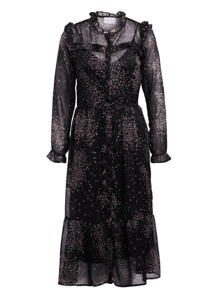 NEO NOIR Kleid mit Rüschenbesatz , Farbe: SCHWARZ/ CREME (Bild 1)