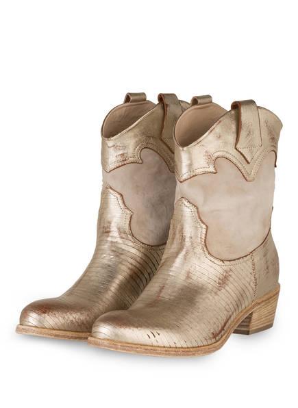 Fru.it Cowboy Boots, Farbe: HELLGRAU/ GOLD (Bild 1)