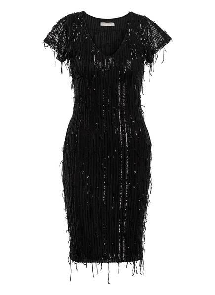 RINASCIMENTO Kleid mit Paillettenbesatz, Farbe: SCHWARZ (Bild 1)