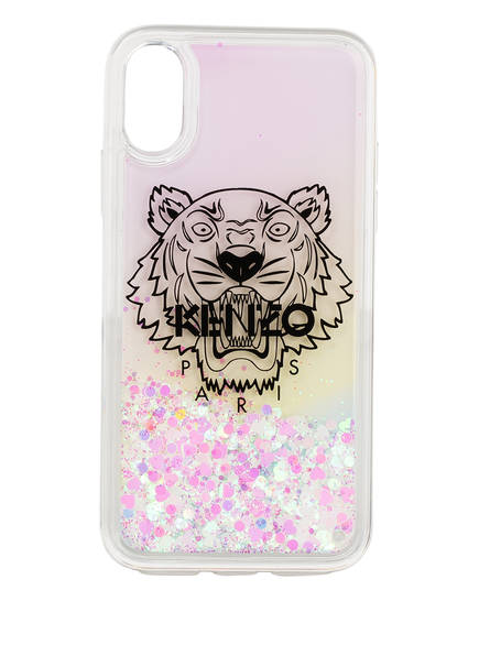 KENZO Smartphone-Hülle TIGER, Farbe: WEISS/ ROSA (Bild 1)