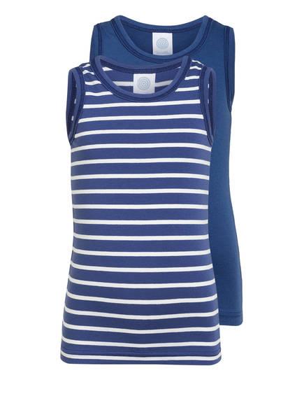 Sanetta 2er-Pack Unterhemden, Farbe: BLAU/ WEISS (Bild 1)