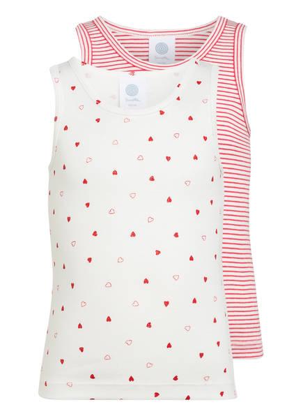Sanetta 2er-Pack Unterhemden, Farbe: WEISS/ ROT (Bild 1)