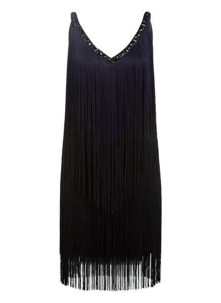 Phase Eight Kleid MISSY mit Schmucksteinbesatz und Fransen, Farbe: SCHWARZ/ DUNKELBLAU (Bild 1)