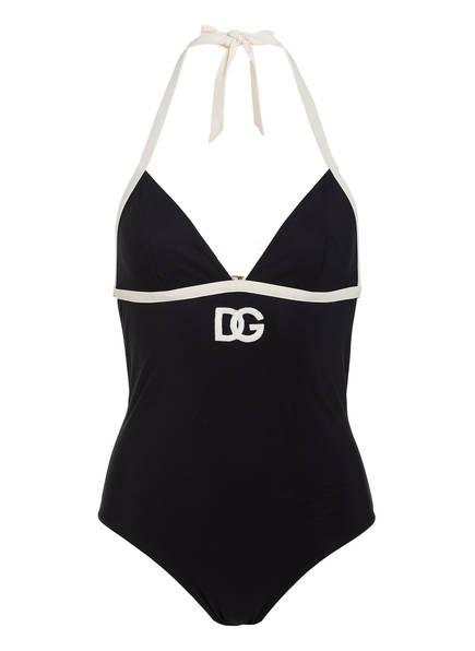 DOLCE&GABBANA Neckholder-Badeanzug , Farbe: SCHWARZ (Bild 1)