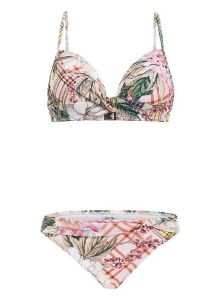 MARYAN MEHLHORN Bügel-Bikini PUNK DE FLEURS , Farbe: ROSA/ GRÜN/ GELB (Bild 1)