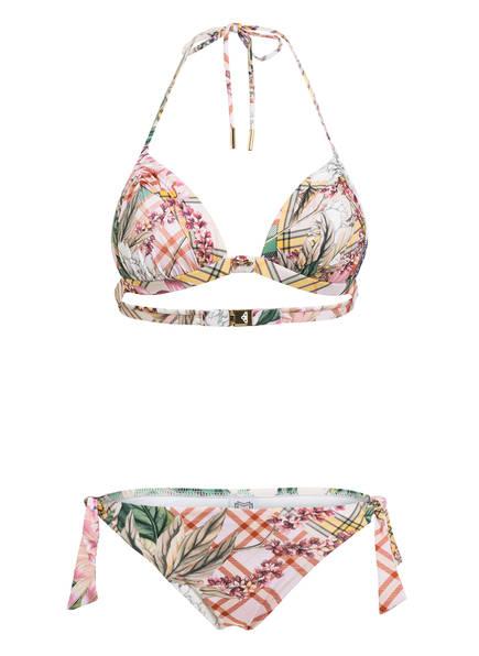 MARYAN MEHLHORN Triangel-Bikini PUNK DE FLEURS , Farbe: ROSA/ GRÜN/ GELB (Bild 1)