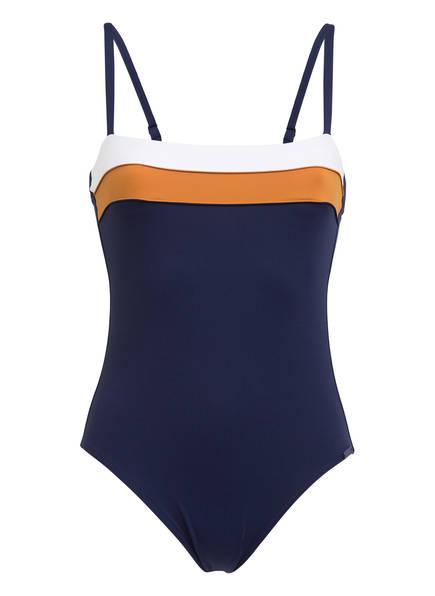 MARYAN MEHLHORN Badeanzug SOFTLINE EDGE , Farbe: NAVY/ WEISS/ BRAUN (Bild 1)
