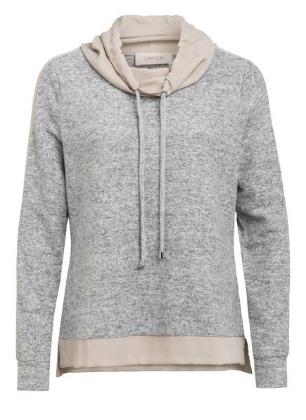 CARTOON Sweatshirt mit Galonstreifen , Farbe: GRAU MELIERT/ HELLBEIGE (Bild 1)