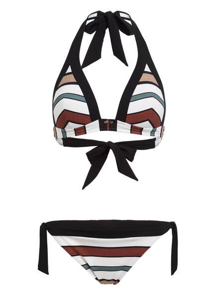 MARYAN MEHLHORN Neckholder-Bikini SUIT, Farbe: SCHWARZ/ WEISS (Bild 1)