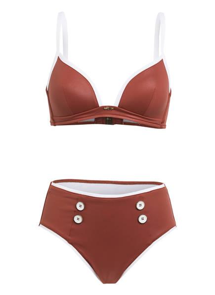 MARYAN MEHLHORN Triangel-Bikini LODGE , Farbe: BRAUN/ WEISS (Bild 1)