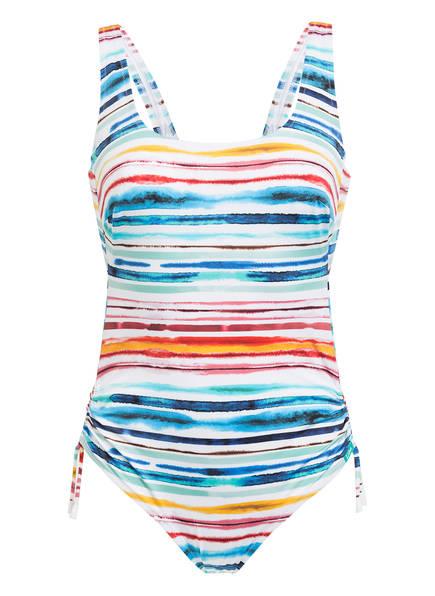 Lidea Badeanzug HIGH NOON , Farbe: WEISS/ BLAU/ ROT (Bild 1)