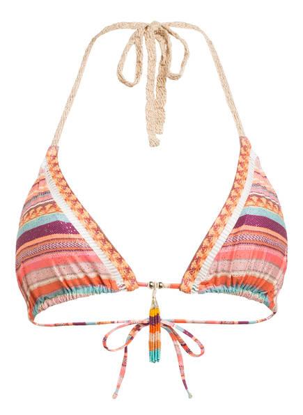 watercult Neckholder-Bikini-Top SOUVENIR STRIPE , Farbe: ORANGE/ DUNKELROT/ MINT (Bild 1)