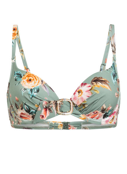 watercult Bügel-Bikini-Top BOHO BLOSSOM , Farbe: GRÜN/ ROSE/ GELB (Bild 1)