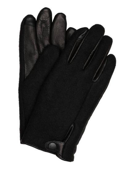 UGG Handschuhe mit Leder und Touchscreen-Funktion, Farbe: SCHWARZ (Bild 1)