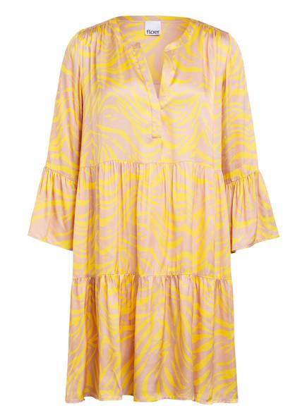 floer Kleid mit 3/4-Arm, Farbe: GELB/ NUDE (Bild 1)