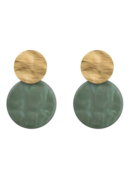 LOTT.gioielli Ohrringe, Farbe: GOLD/ GRÜN (Bild 1)