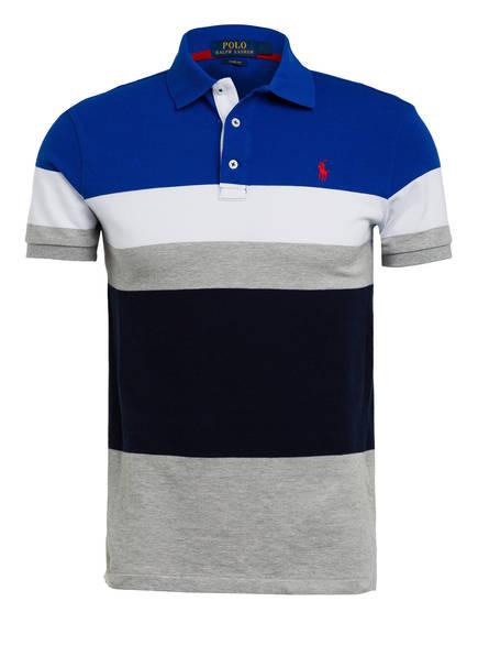 POLO RALPH LAUREN Piqué-Poloshirt Slim Fit, Farbe: BLAU/ HELLGRAU/ DUNKELBLAU (Bild 1)