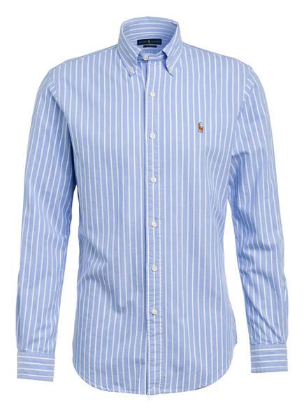 POLO RALPH LAUREN Oxfordhemd Custom Fit, Farbe: HELLBLAU/ WEISS GESTREIFT (Bild 1)