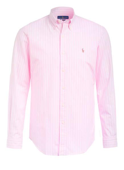 POLO RALPH LAUREN Oxfordhemd Custom Fit, Farbe: PINK/WEISS (Bild 1)